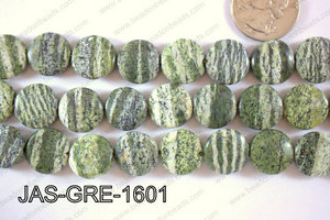 Jasper Green Coin 16mm JAS-GRE-1601