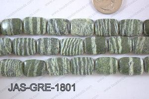 Jasper Green Rectangle 13x18mm JAS-GRE-1801