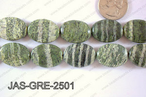 Jasper Green Oval  18x25mm JAS-GRE-2501