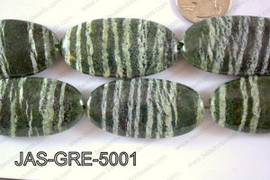 Jasper Green Oval  50x25mm JAS-GRE-5001