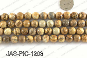 Picture Jasper faceted round 12mm JAS-PIC-1203