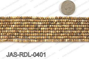 Picture Jasper faceted Rondelle 4mm JAS-RDL-0401