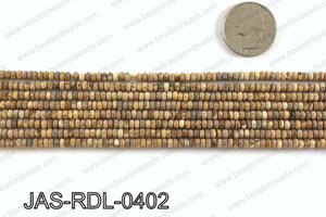 Picture Jasper faceted matte Rondelle 4mm JAS-RDL-0402