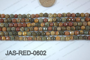 Red Creek Jasper Round Faceted 6mm JAS-RED-0602