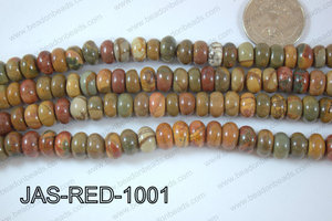 Red Creek Jasper Rondel 10mm JAS-RED-1001
