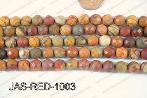Red Creek Jasper Round Faceted 10mm JAS-RED-1003