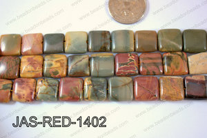 Jasper Red Creek Square 14mm JAS-RED-1402