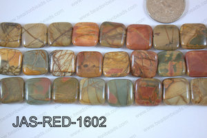 Red Creek Jasper Square 16mm JAS-RED-1602