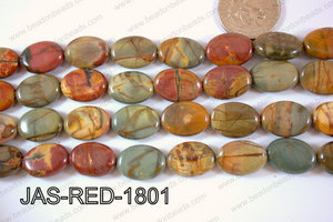 Jasper Red Creek Oval 13x18mm JAS-RED-1801