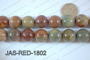 Red Creek Jasper Round 18mm JAS-RED-1802