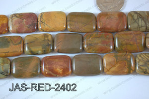 Red Creek Jasper Rectangle 18x24mm JAS-RED-2402