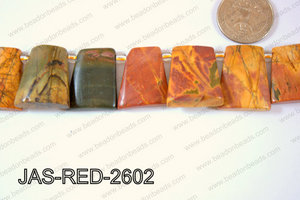 Jasper Red Creek Trapezoid 24x26mm JAS-RED-2602