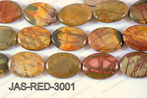 Red Creek Jasper Oval 22x30mm JAS-RED-3001