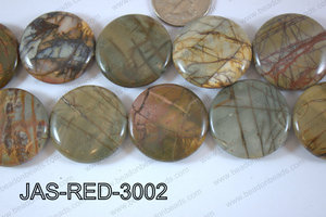 Red Creek Jasper Coin 30mm JAS-RED-3002