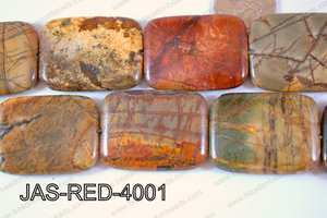 Red Creek Jasper Rectangle 30x40mm JAS-RED-4001