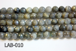 Labradorite Faceted Round 12mm LAB-010