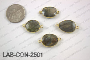 Labradorite oval connector 16X25mm LAB-CON-2501