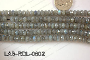 Labradorite Faceted Rondel 8mm LAB-RDL-0802