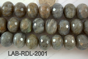 Labradorite Faceted Rondel 20mm LAB-RDL-2001
