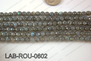 Labradorite Faceted Round 6mm LAB-ROU-0602