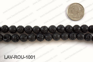 Black Lava Round 10mm LAV-ROU-1001