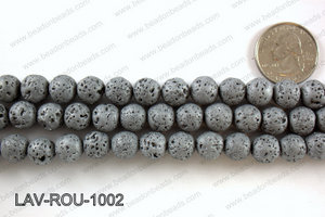 Metallic Coated Lava Round 10mm LAV-ROU-1002