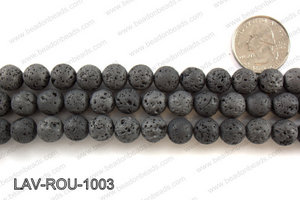Metallic Coated Lava Round 10mm LAV-ROU-1003