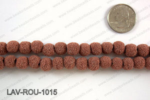 Lava Round, Red 10mm LAV-ROU-1015