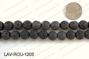 Metallic Coated Lava Round 12mm LAV-ROU-1203
