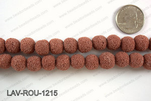 Lava Round, Red 12mm LAV-ROU-1215