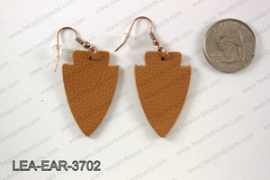 Leather arrow earrings 37x24mm LEA-EAR-3702