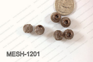 Mesh Bead Brown 12mm MESH-1201