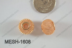 Mesh Bead 16mm 10 pcs MESH-1608