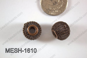 Mesh Bead 16mm 10 pcs MESH-1610