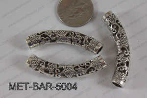Metal Bar Silver 10X50mm MET-BAR-5004