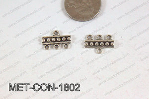3 Hole Connector Silver 18x13mm MET-CON-1802