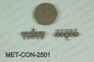 5 Hole Connector Silver 25x12mm MET-CON-2501