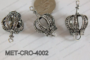 Metal Crown Silver 40x24mm MET-CRO-4002