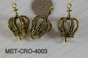 Metal Crown Gold 40x24mm MET-CRO-4003