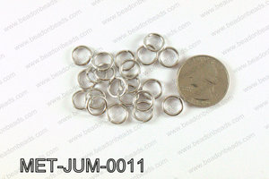 10MM Dark Silver open Jump ring MET-JUM-0011