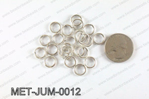 10MM Light Silver open Jump ring MET-JUM-0012