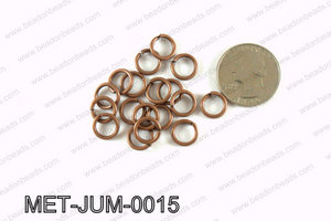 10MM Copper open Jump ring MET-JUM-0015