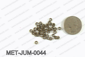 4MM Bronze open Jump ring MET-JUM-0044