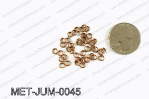 4MM Copper open Jump ring MET-JUM-0045