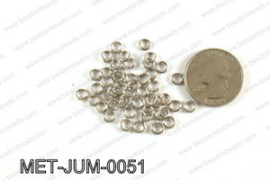5MM Dark Silver open Jump ring MET-JUM-0051