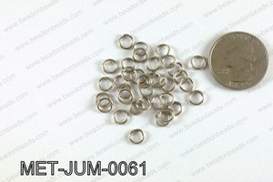 6MM Dark Silver open Jump ring MET-JUM-0061