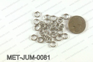 8MM Dark Silver open Jump ring MET-JUM-0081