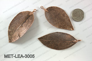Electroplated copper leaf, 30x60mm MET-LEA-3005