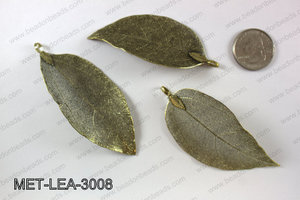 Electroplated copper leaf, 30x60mm MET-LEA-3008