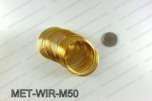 Memory wire, Small size 0.6x50, Gold MET-WIR-M50